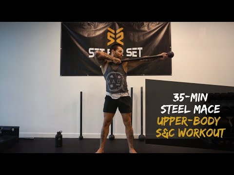 Steel Mace Single Arm 360 to Half Swing to Archer Press