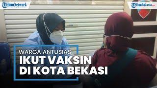 Animo Masyarakat Tinggi, Vaksinasi di Mal Pondok Gede: Belum Sejam Sudah 2 Ribu Peserta