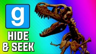 Gmod Hide and Seek Funny Moments - Dinosaur Museum, Peeking Game, Delirious's Closet (Garry's Mod)