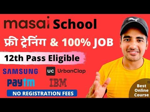 Masai School Free Online Training   Free Certificate   Launch your ...