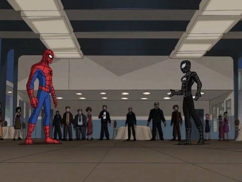 Spectacular Spider-Man (2008) Black Suit Spider-Man vs Chameleon part 1
