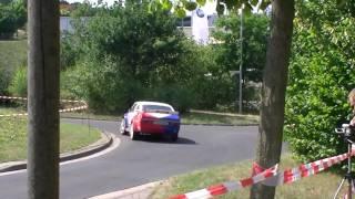 preview picture of video 'Wartburg-Rallye 2010 - WP 16 (Rundkurs): Porsche 911 GT3 (u.a. Dobberkau) und Nissan 350Z'