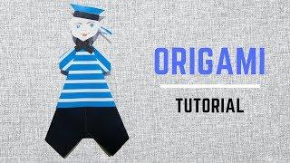Оригами МОРЯК к 23 февраля! Подарок своими руками! DIY В этом видео я покажу мастер класс, как сделать из бумаги Моряка. Сделать его очень просто.  Ставь лайк, если у тебя получилось! Поделись видео с друзьями и вы вместе сможете