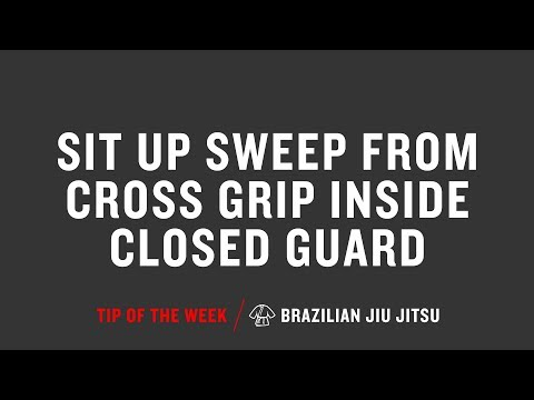 Sit Up Sweep From Cross Grip Inside Closed Guard