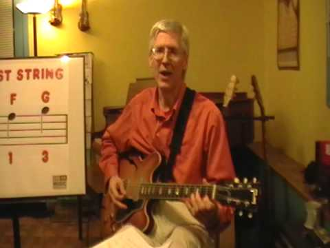 Take a complete 30 minute guitar lesson with Stan Munslow. (Part 3 of 3).