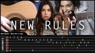 DUA LIPA - NEW RULES - Cover (Fingerstyle Cover) + TAB Tutorial (Lesson) Arr By Eddie Van Der Meer