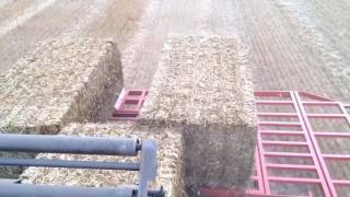 Big bale accumulator on trial fendt 936 new Holland 1290 part1