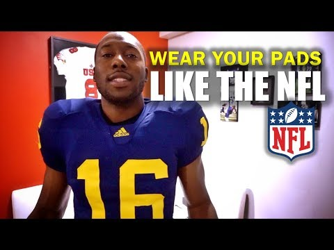 Wear Your Pads Like the NFL