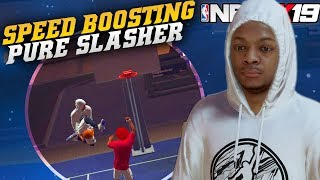 NBA 2K19 Park: Speed Boosting Pure Slasher Dunking Everything! Road To 99 Overall