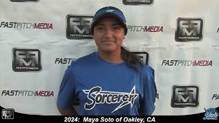 2024 Maya Soto Pitcher, Shortstop and Outfield Softball Skills Video - Sorcerer
