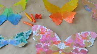 Melted Crayon Butterflies