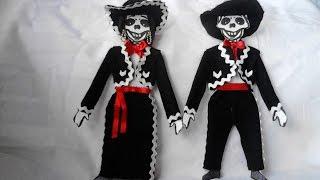 como vestir esqueleto de papel mariachi