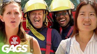 bromas  bromas con los bomberos