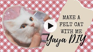 How To Needle Felt 🐈Make A Felt Cat With Me 🐱DIY Needle Felting