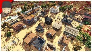 Minecraft Wild West Town Part 5 Saloon Hmong Video