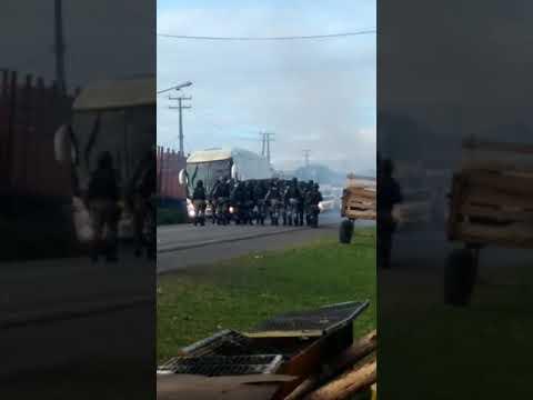 Ação da PRF e Polícia de Choque na BR 101 Em Alagoinhas/Greve-Caminhoneiros