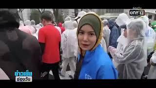 """""""ก้อย รัชวิน"""" หลั่งน้ำตาหลังจบการวิ่งโตเกียวมาราธอน 2019   ประเด็นร้อน   one บันเทิง"""