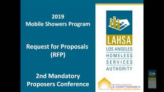 2019 Mobile Showers Program RFP: 2nd Mandatory Proposers Conference