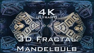 4K Descent into Fractal Core - Dark - Mandelbulb 3D fractal UltraHD 2160p
