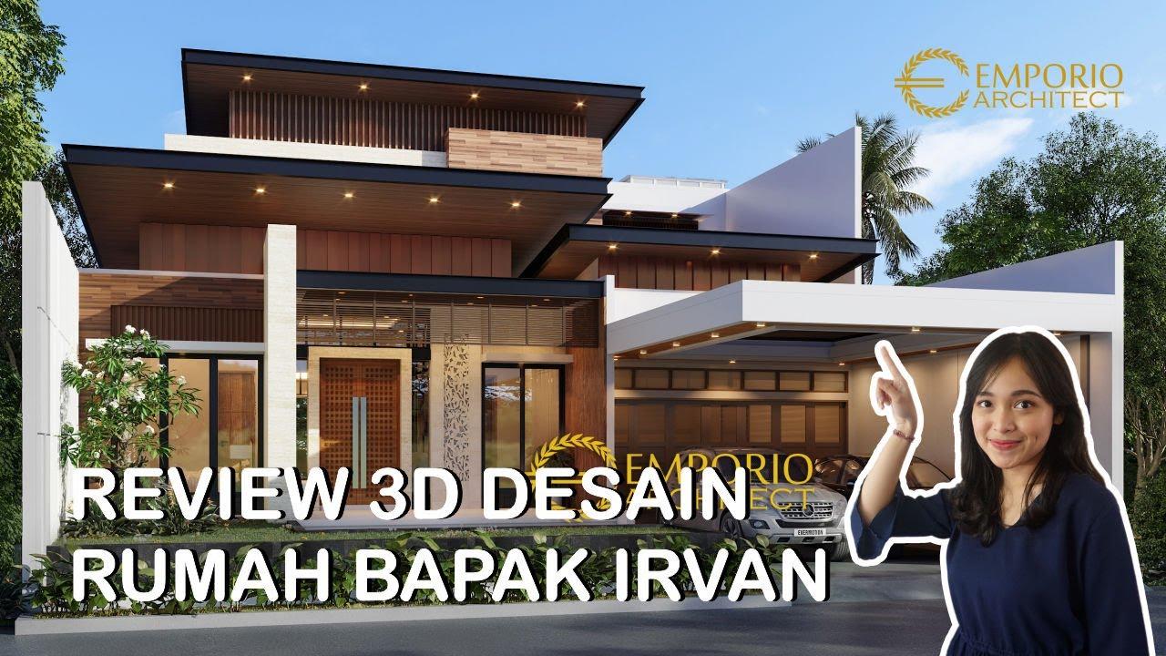 Video 3D Desain Rumah Modern 2 Lantai Bapak Irvan di Kuningan, Jawa Barat