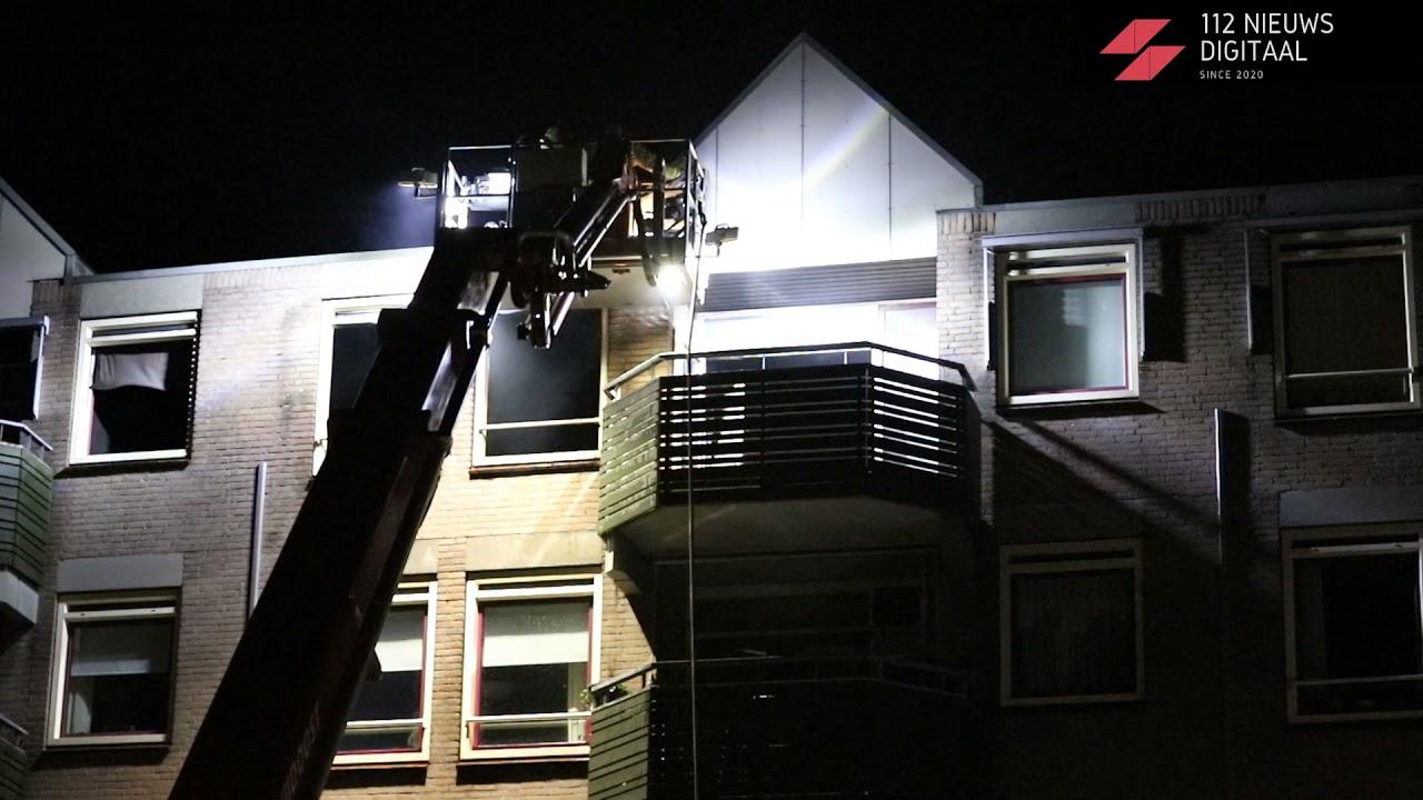 06-08-2021: Grote uitslaande brand in appartementencomplex aan de Lauwerszeeweg in Eindhoven