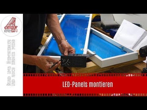 LED-Panels montieren