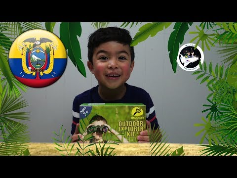 Toy Review Adventure Explorer Kit Learning the Country Ecuador for kids with Milton!!!