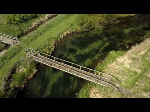 Aerial footage of the lower beat at Mulberry Whin