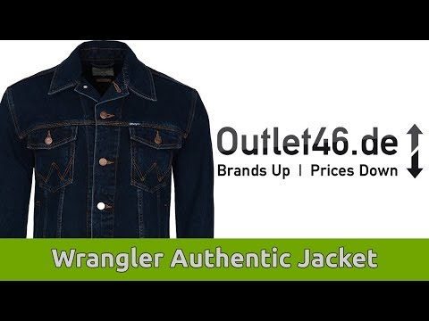 Wrangler Jeans Jacke l Authentic Jacket ! l Review l On Body l Haul l Outlet46.de