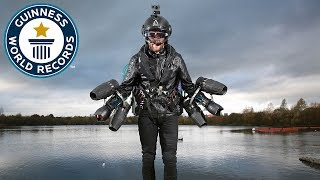Real Life Iron Man Sets New Flight Speed Record   Guinness World Records Day