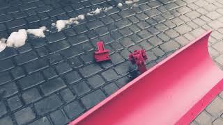Лопата отвал к мотоблоку с водяным охлаждением 1,2 метра Булат - видео 1