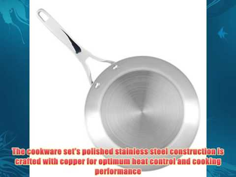 Anolon 11-Piece Nouvelle Copper Stainless Steel Cookware Set Silver  Best Sellers In Cooking