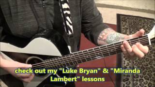 Blake Shelton - Came Here To Forget - Acoustic Guitar Lesson by Mike Gross - How To Play - Tutorial