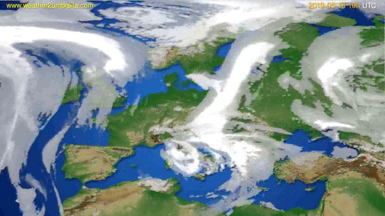 Cloud forecast Europe // modelrun: 00h UTC 2019-05-11