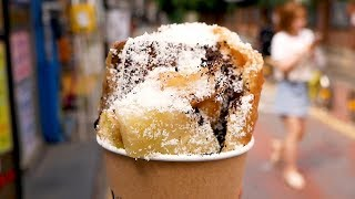 Pineapple Ice cream Hotteok (Korean pancakes) - Korean street food