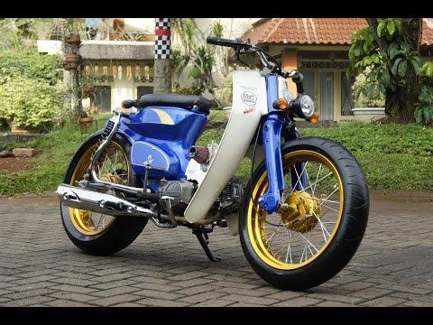 Video Motor Trend Modifikasi | Video Modifikasi Motor Honda C70 Si Pitung Street Cub Terbaru Part 3