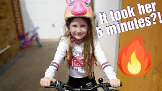 Learning to ride a bike without stabilisers