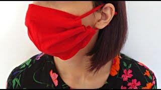 DIY NO SEW Face mask from T-shirt sleeve | 5 minutes | Maison Zizou