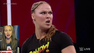 WWE Raw Ronda 8/13/18 Ronda Rousey Takes out Security Guards