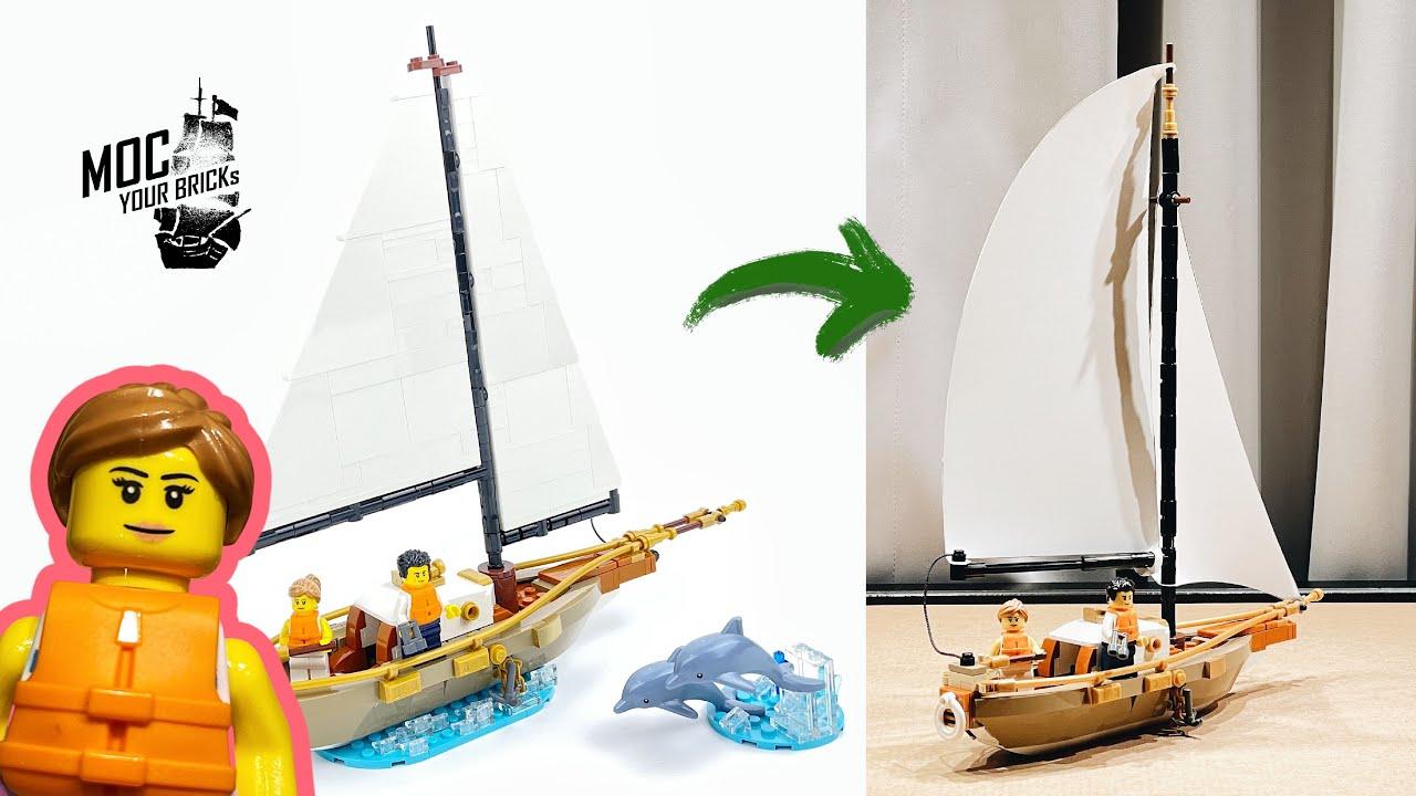 Lego Ideas 40487, Sailboat Adventure. Speed Build and Modify!!!