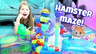AMAZING HAMSTER MAZE! Setting Up Hamster Cages And Tubes From CritterTrail Shopping At PetSmart