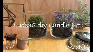 4 Diy Candle Jar Ideas - Recycled And Make It Cute