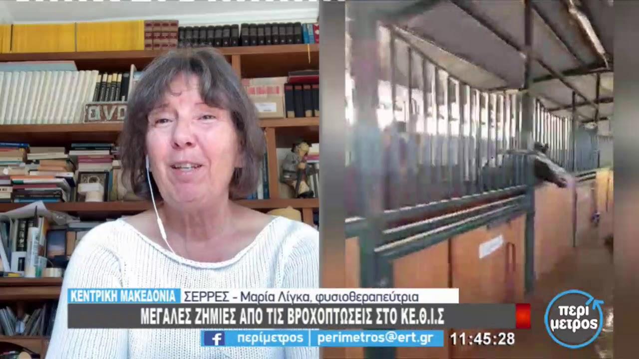 Μεγάλες ζημιές από τις βροχοπτώσεις στο Κέντρο Θεραπευτικής Ιππασίας Σερρών | 22/2/2021 | ΕΡΤ