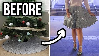 Christmas Tree Skirt Transformation | DIY Holiday Skirt