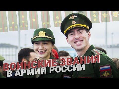 Воинские звания в армии России. Выслуга и досрочное присвоение