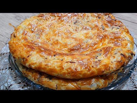 Обалденная Лепешка в духовке/Катлама с мясом/ Мазасига узингиз бахо беринг 😋 ГУШТЛИ КАТЛАМА !