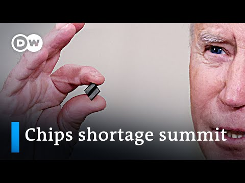 1.3 million fewer cars built: White House holds chips shortage summit | DW News