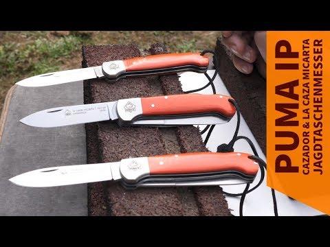 PUMA IP Messer: die Jagdmesser la caza micarta I + III und cazador micarta im Vergleich