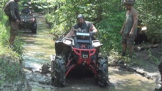 POLARIS SCRAMBLER 850...GRIZZLY AND OTHERS PLAYING IN THE MUD IN CANADA!