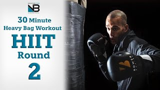 30 Minute Boxing Heavy Bag HIIT Workout Round 2